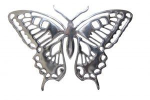 Casa Padrino Aluminium Wand Schmetterling - Wand Dekoration - Interior Design